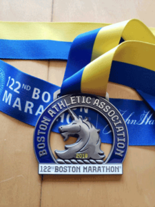 Boston Marathon Race Report Medal